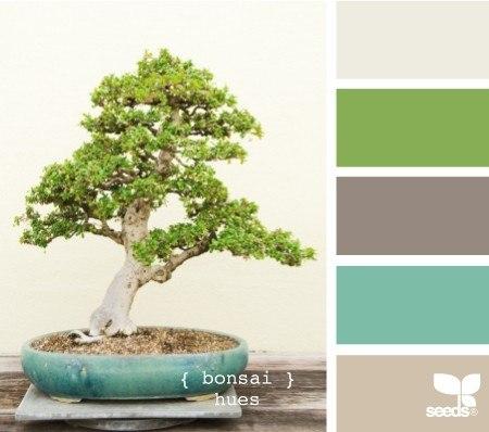 Пример сочетания цветов для сайта (бежевый, зеленый)